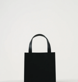 Baggu Small leather retail tote black