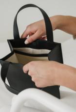 Baggu Small leather retail tote black