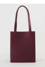 Baggu Leather retail tote cranberry