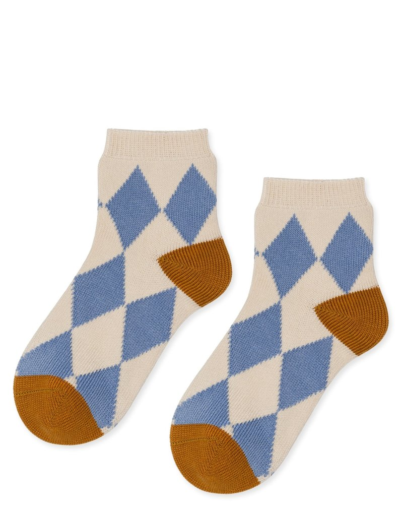 hansel from basel Sock check light blue