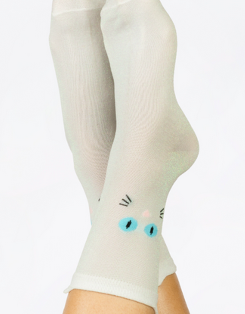 Doiy Cat socks white