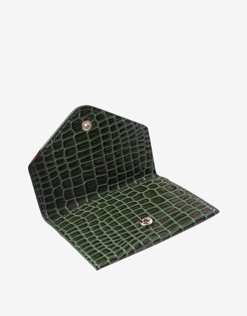 Hvisk Hvisk Wallet croco green