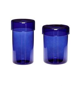 Hübsch Jar Blue (set of 2)