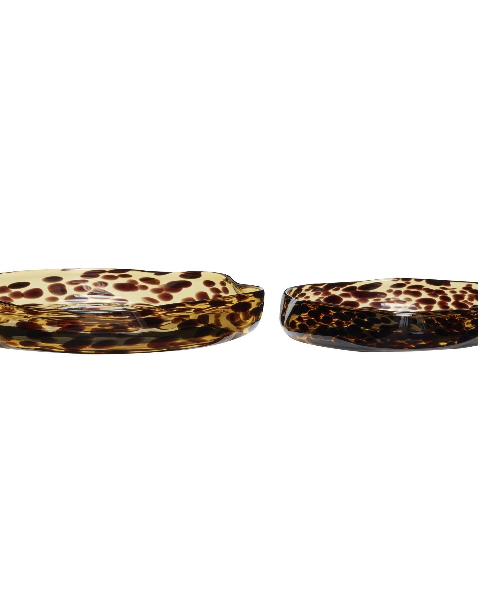Hübsch Tray yellow brown (set of 2)