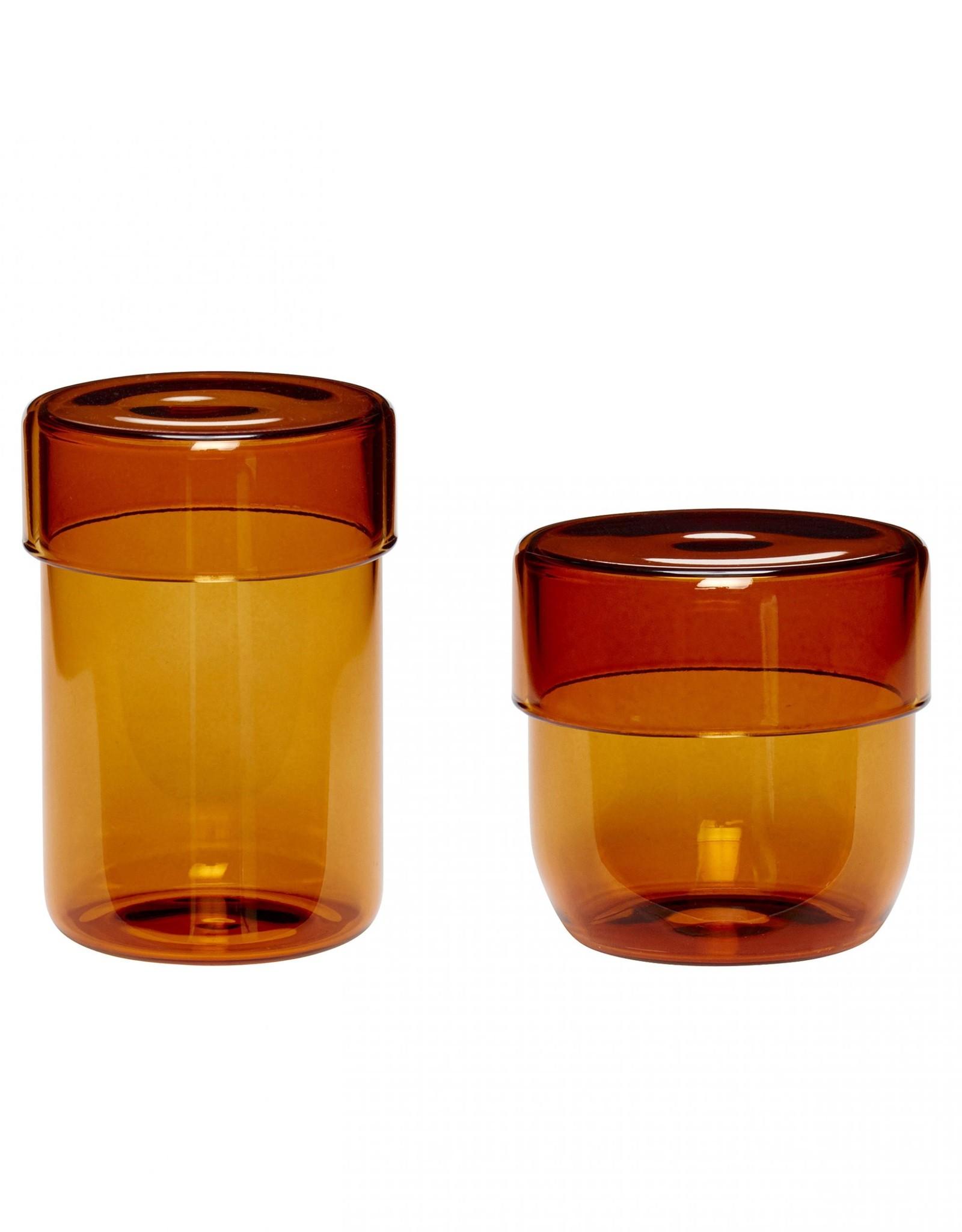 Hübsch Jar small Amber (set of 2)