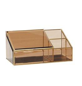 Hübsch Jewelry Box brown glass
