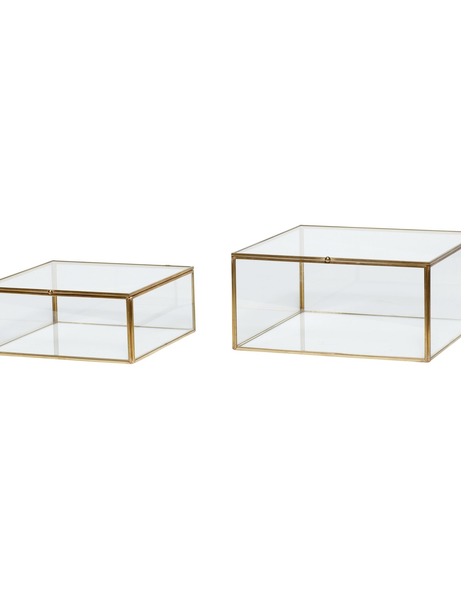 Hübsch Glass box (set of 2)