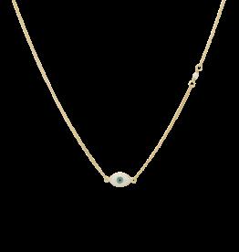 Anna + Nina Small Eye Necklace Gold
