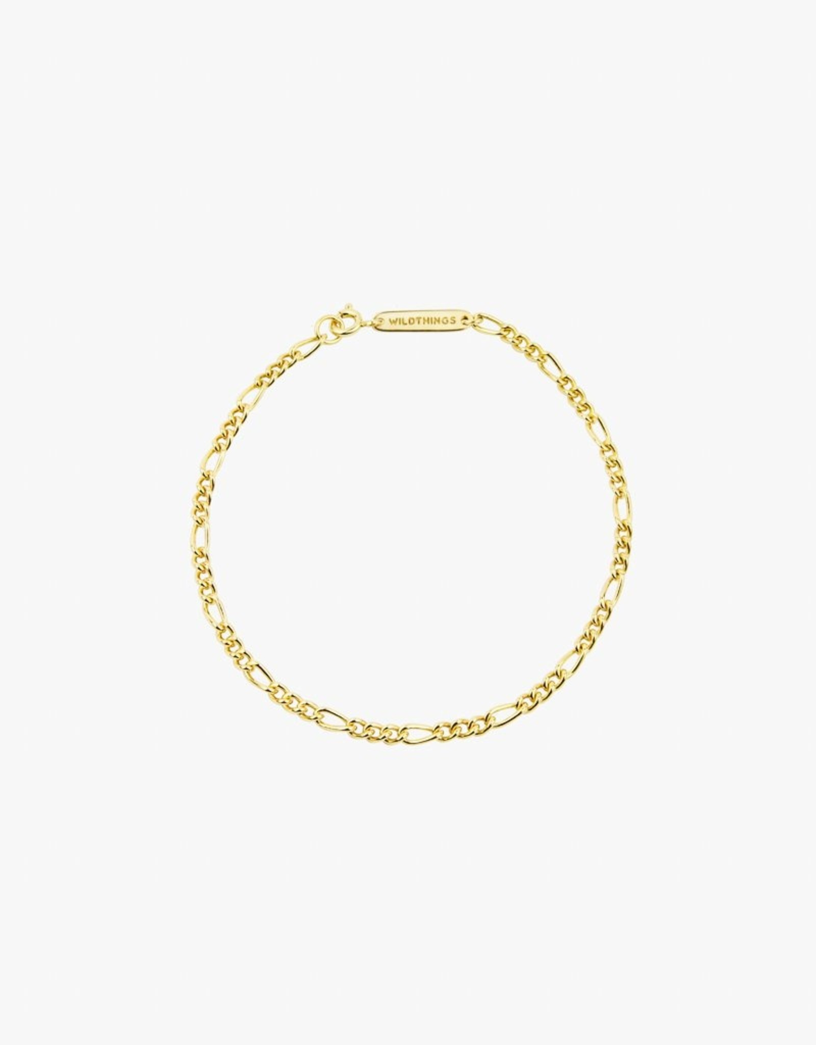 Wildthings Collectables Figaro Bracelet Gold