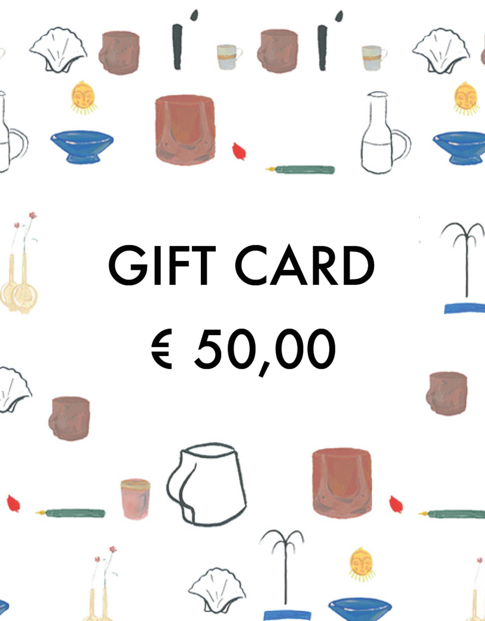 Gift Card - € 50,00