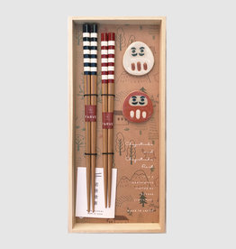 Kawai Kawai Milk Stripes chopsticks Gift Set