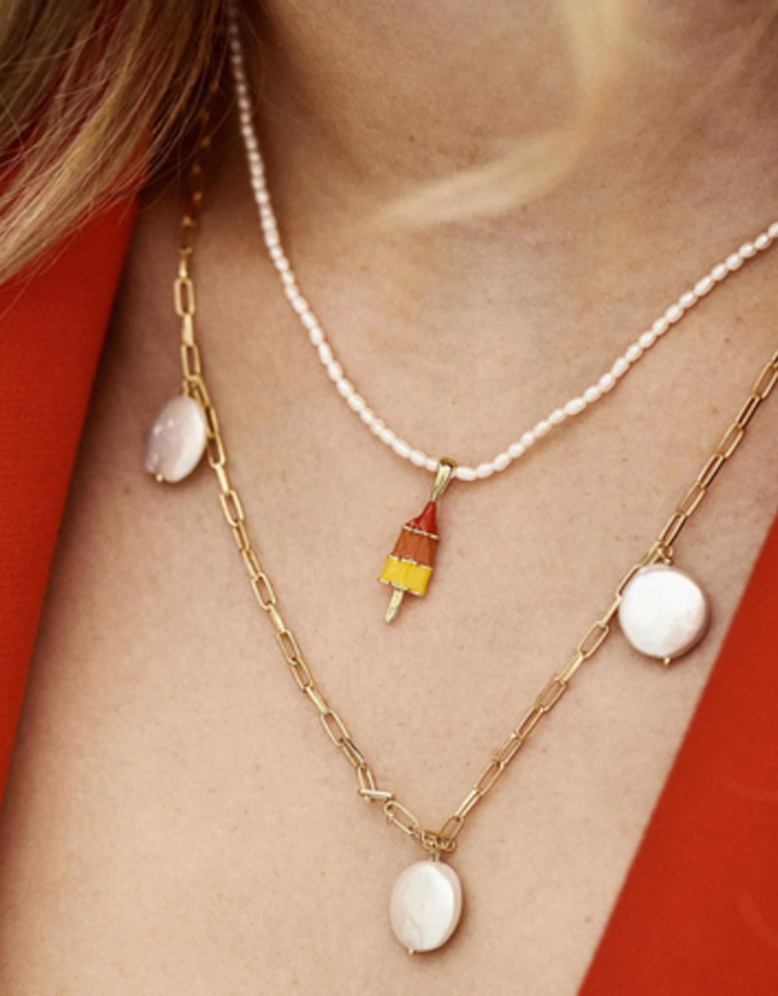Anna + Nina Rocket Ship Necklace Charm
