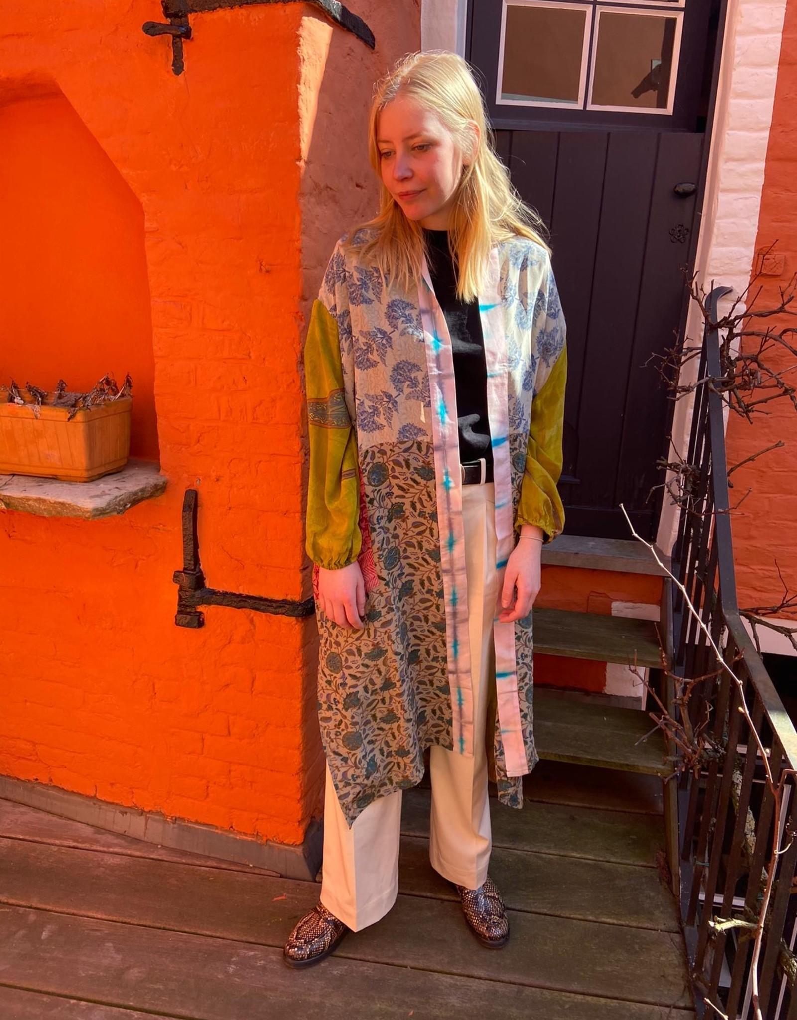 Sissel Edelbo Pocket Long Mix Silk Kimono 4