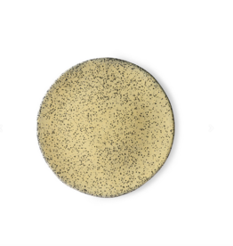 HK Living Gradient ceramics side plate yellow