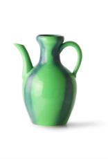 HK Living Ceramic jug green/blue