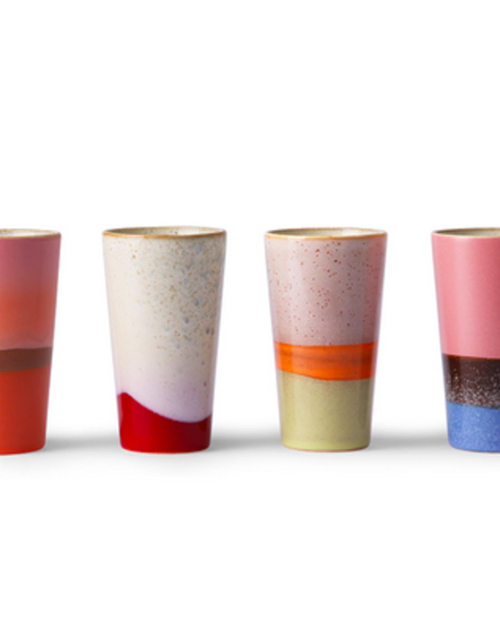 HK Living 70's Latte mugs set of 4