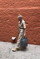 Maison Bengal Ltd Fine Jute Weave Blue Bag