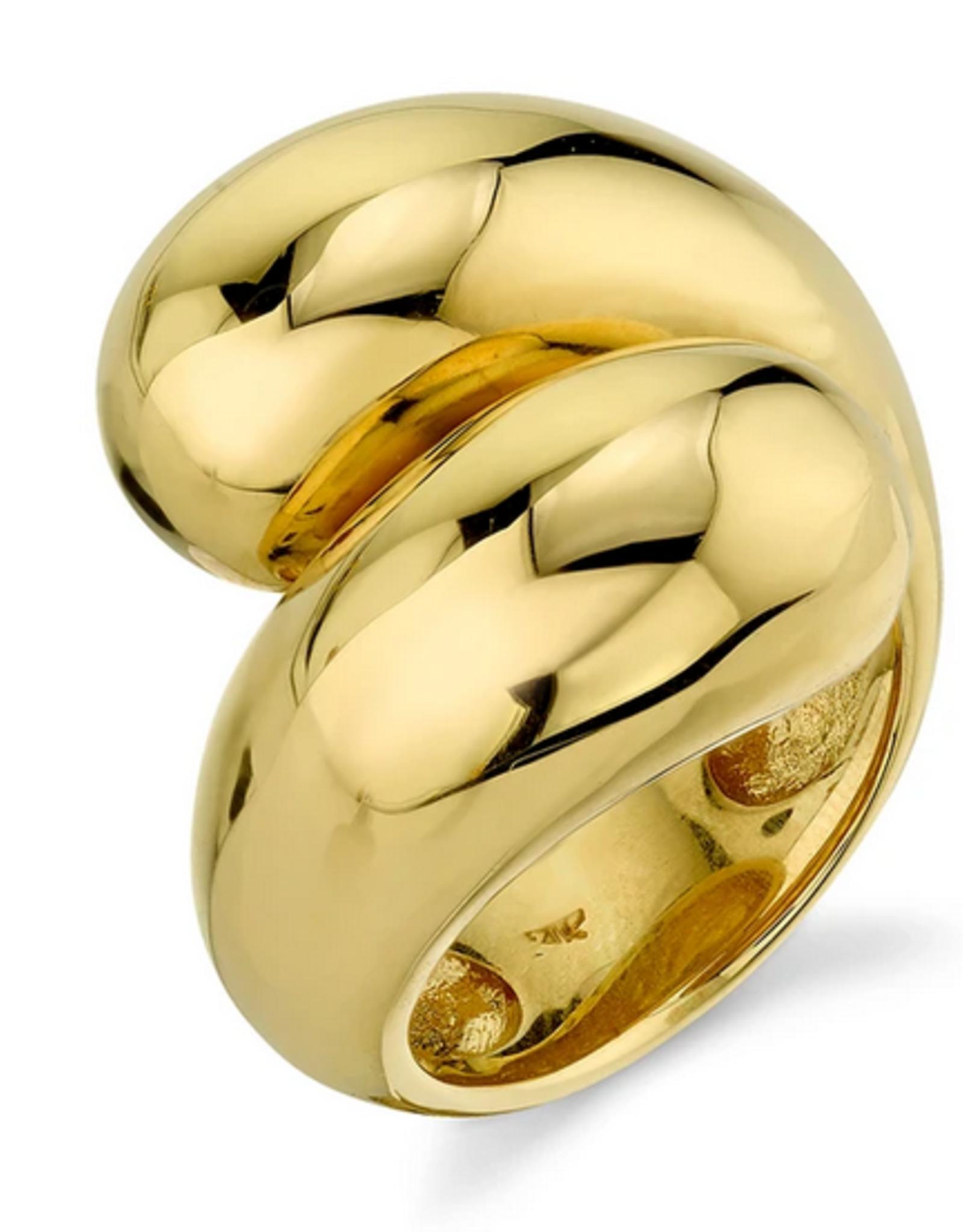 Gabriela Artigas Gabriela Artigas Ring Double Apse Gold Size 56