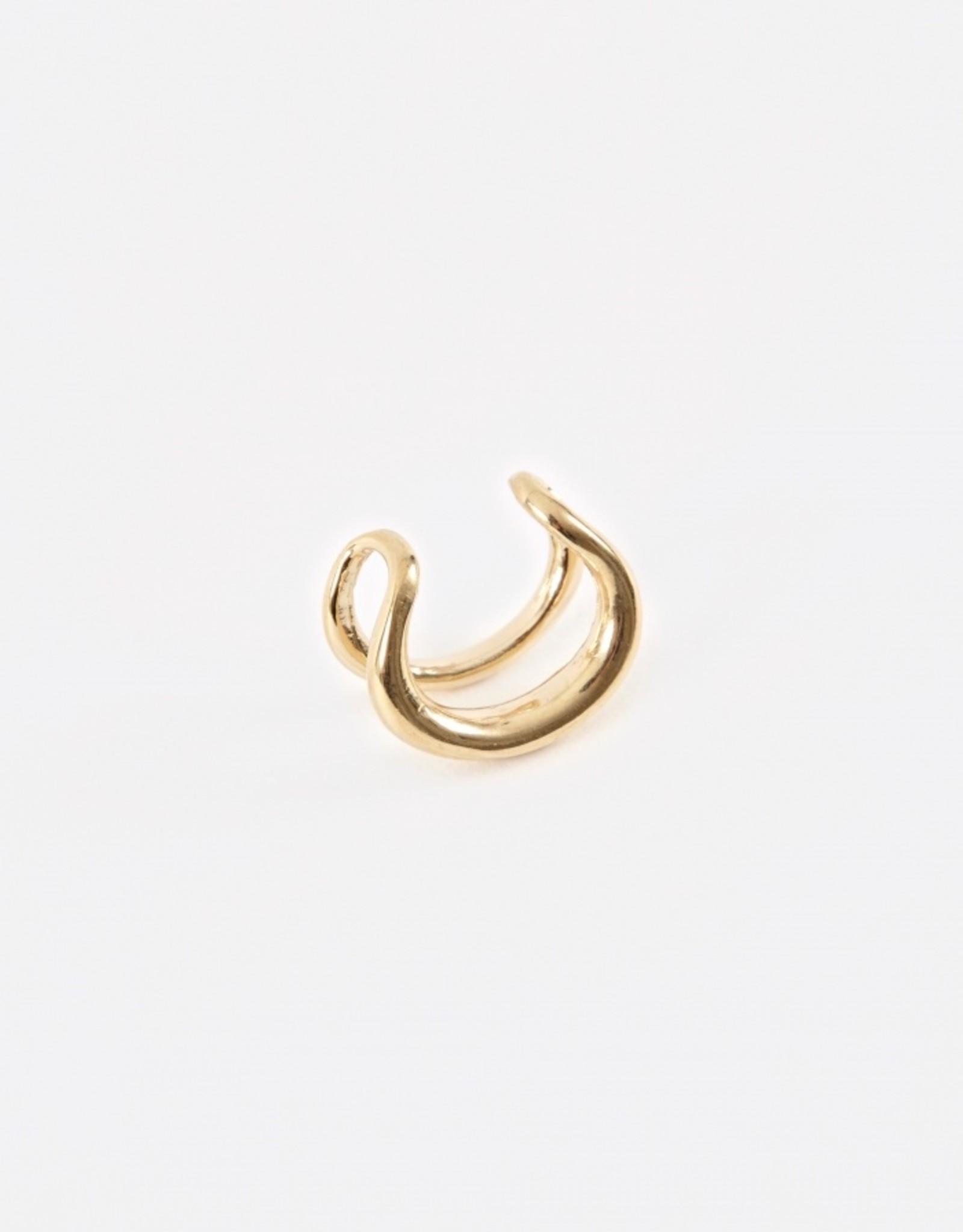 Gabriela Artigas Gabriela Ear Cuff Twintusk (double) 14k yellow gold