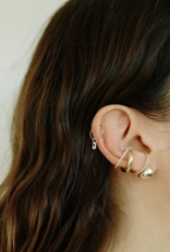 Gabriela Artigas Gabriela Artigas Earring Hoop Intial 14k yellow gold LETTER S
