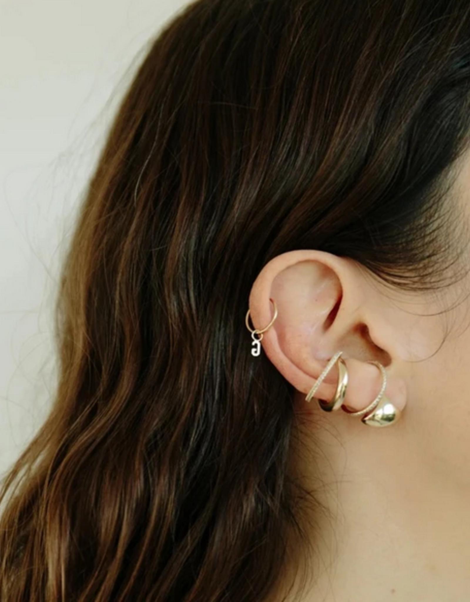 Gabriela Artigas Gabriela Artigas Earring Hoop Intial 14k yellow gold LETTER K