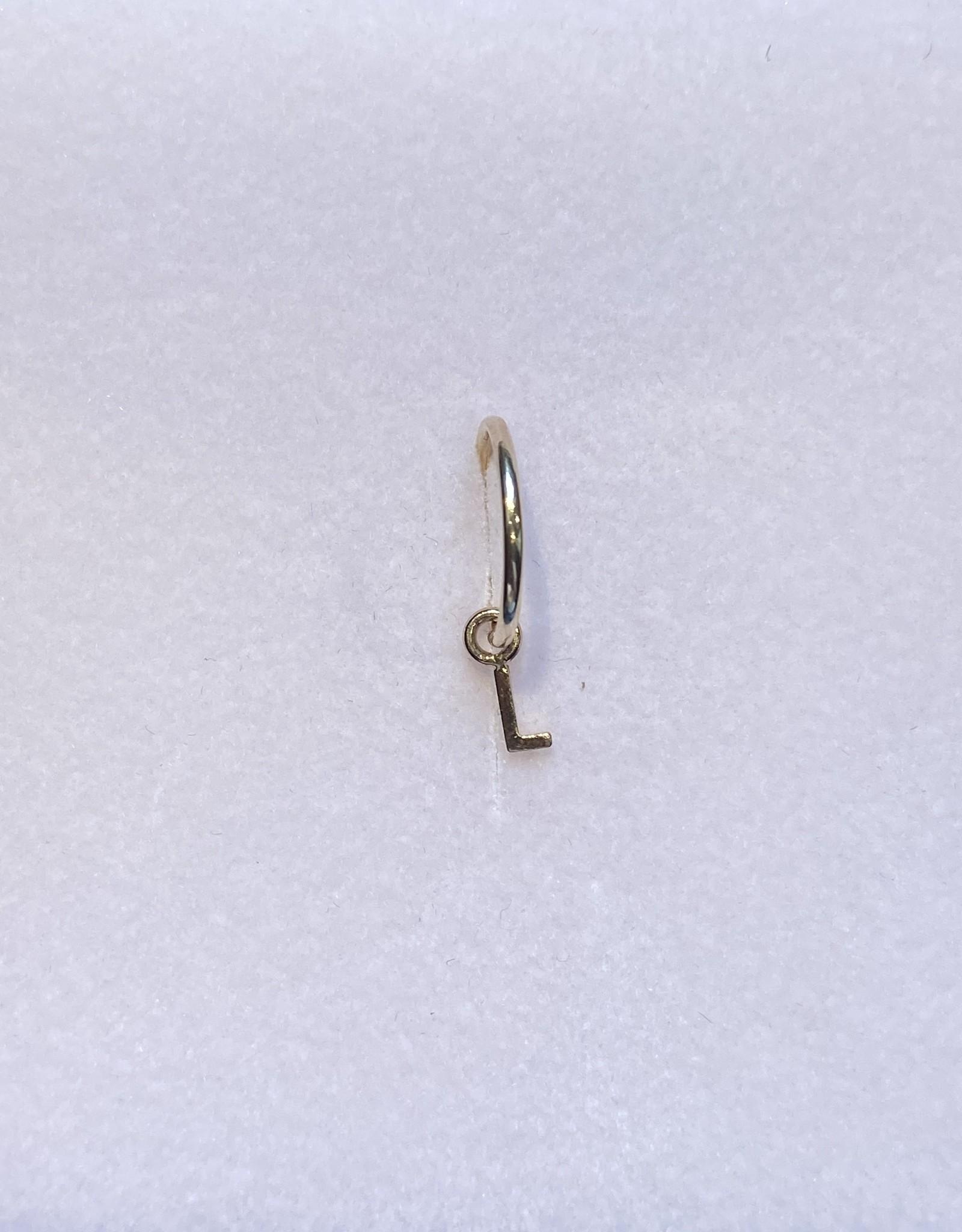 Gabriela Artigas Gabriela Artigas Earring Hoop Initial 14k yellow gold LETTER L