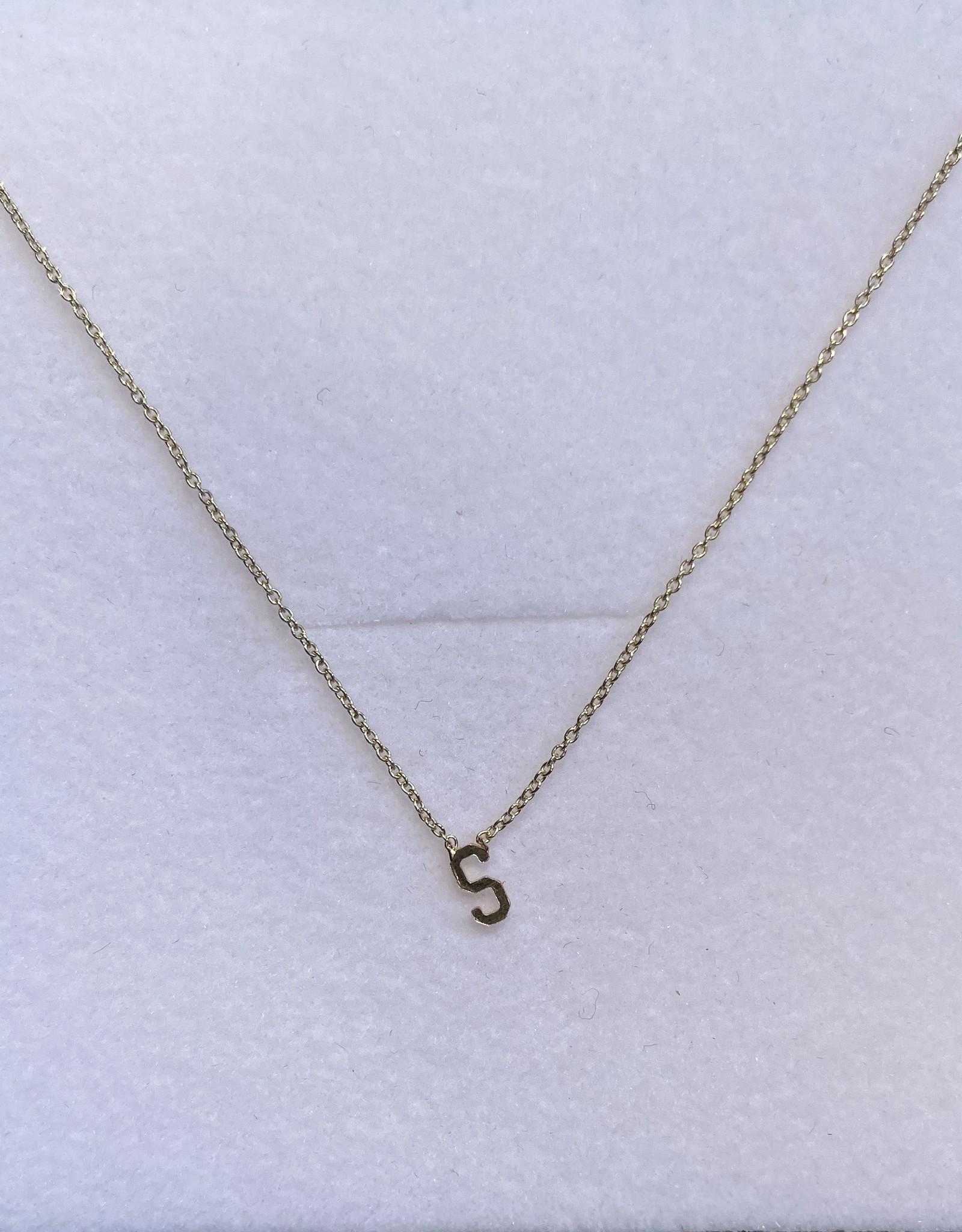 Gabriela Artigas Gabriela Artigas Necklace Initial S 14k Yellow gold