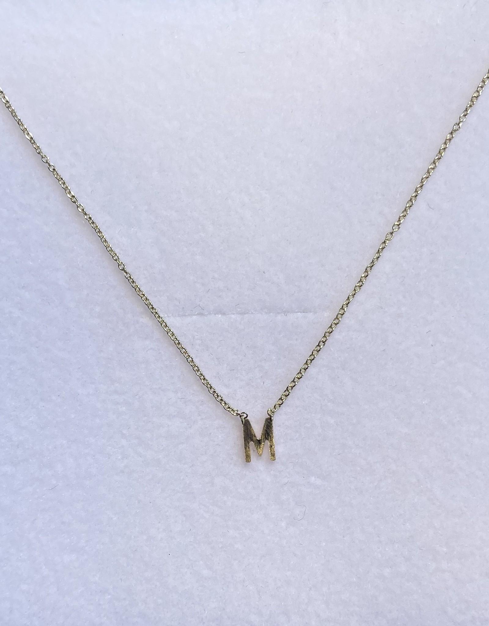 Gabriela Artigas Gabriela Artigas Necklace Initial Letter M 14k yellow gold