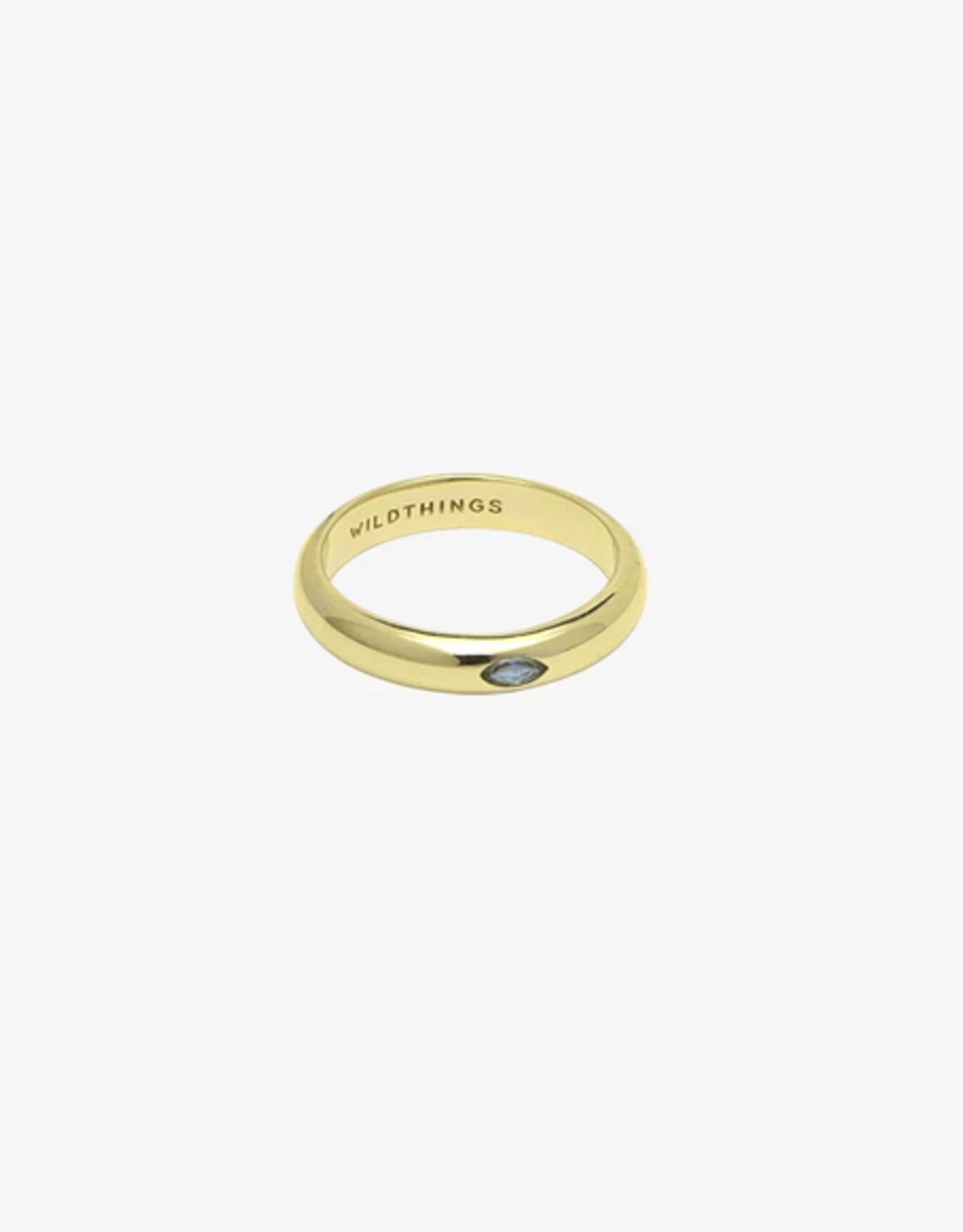 Wildthings Collectables Aquamarine Pebble ring gold - M