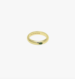 Wildthings Collectables Tourmaline Pebble ring gold - M