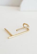 Sansoeurs SanSoeurs Earring H Diamonds Yellow Gold