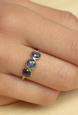 Sophie Deschamps Ring saphire blue size 52