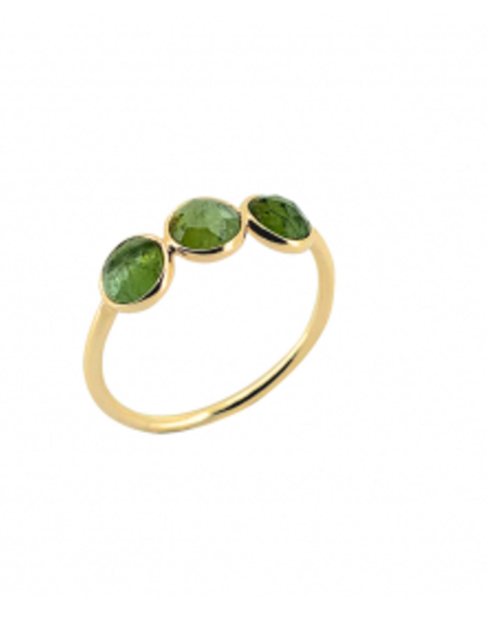 Sophie Deschamps Ring tourmaline green size 54