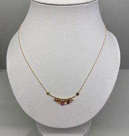 5 Octobre 5 Octobre Necklace Erisa pink tourmaline