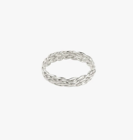 Wildthings Collectables Braided ring silver size 7