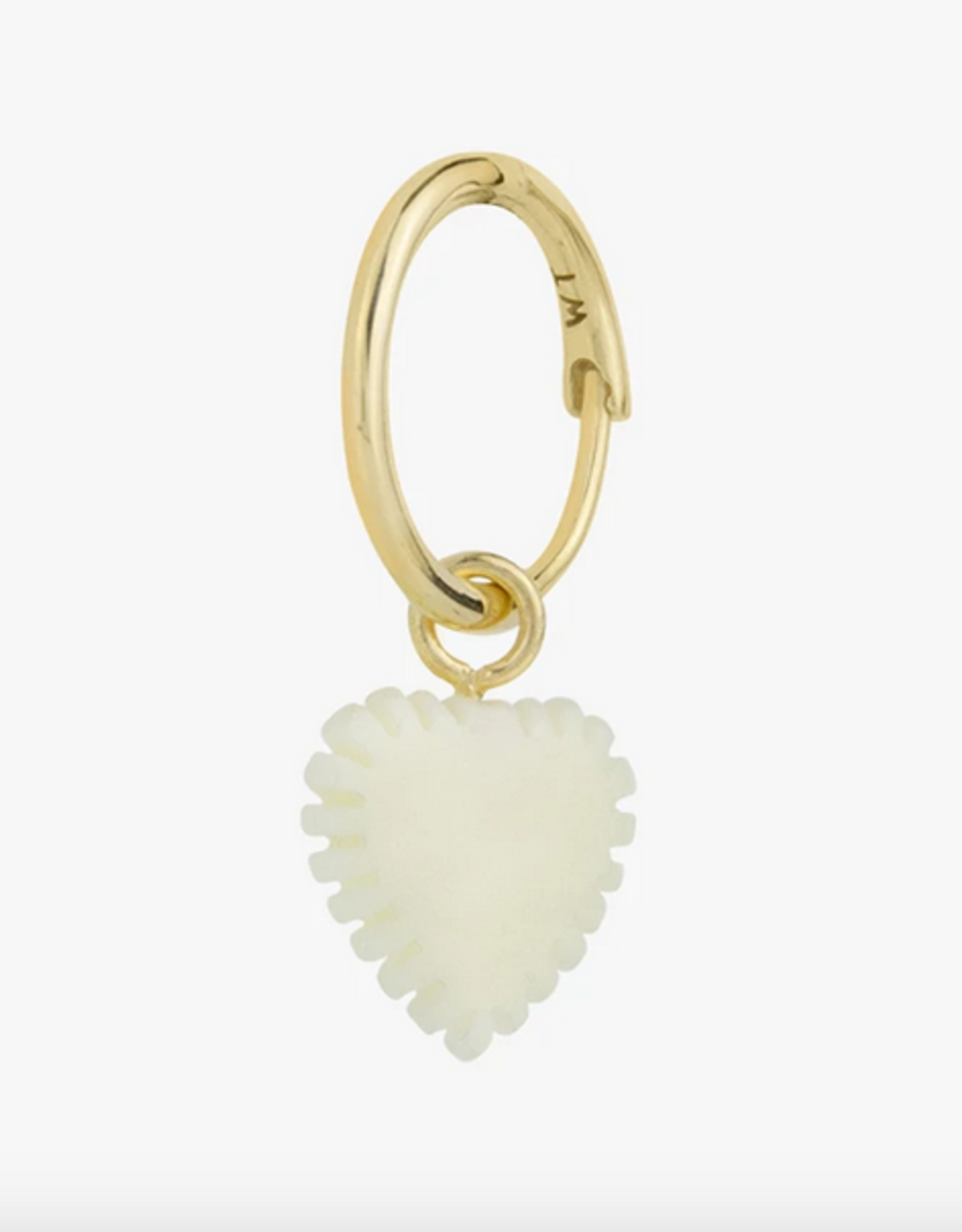 Wildthings Collectables Ivory heart earring gold