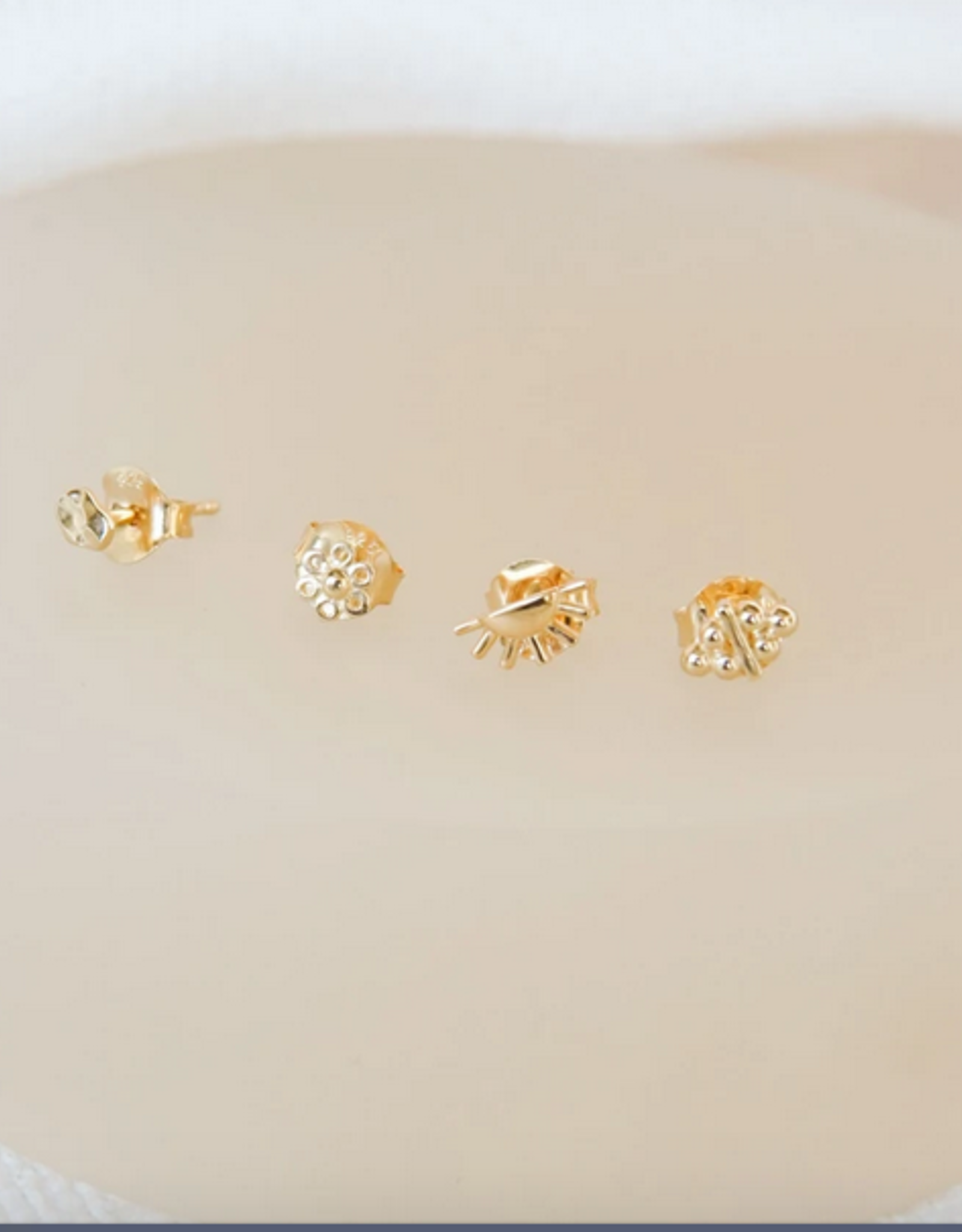 Wildthings Collectables Dots N stripes stud gold
