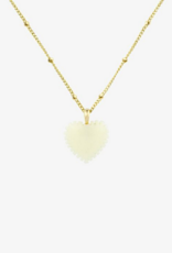 Wildthings Collectables ivory heart pendant gold