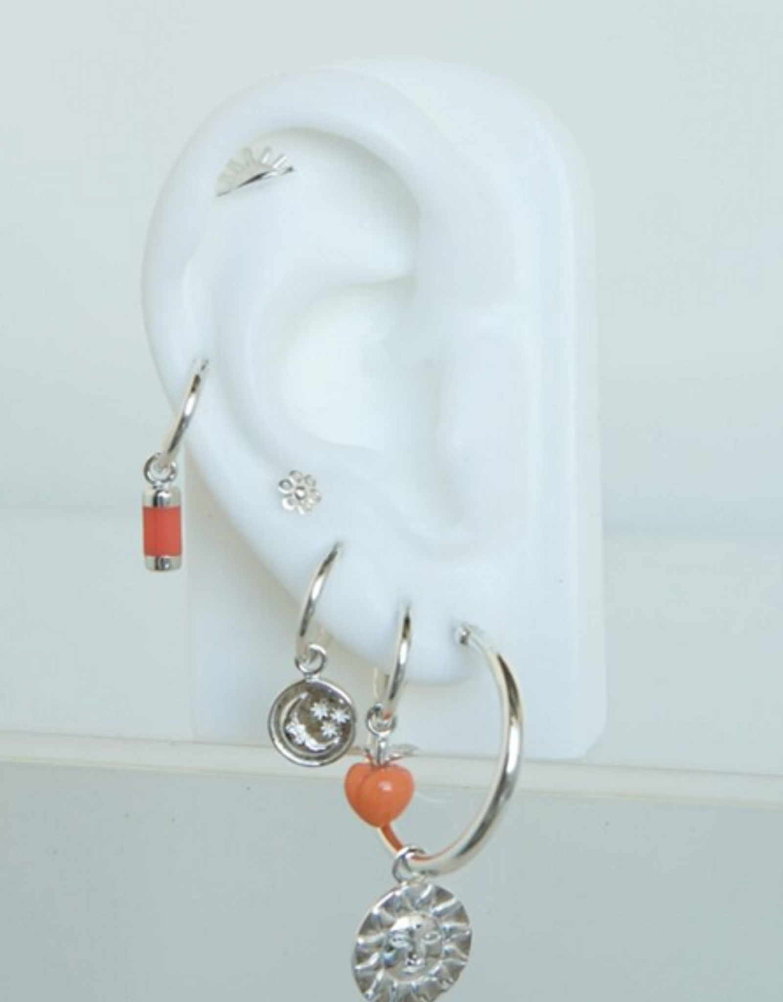 Wildthings Collectables wild feeling peachy earring silver