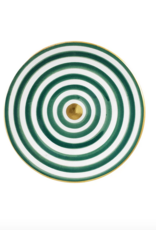 Chabi Chic Striped plate green d20