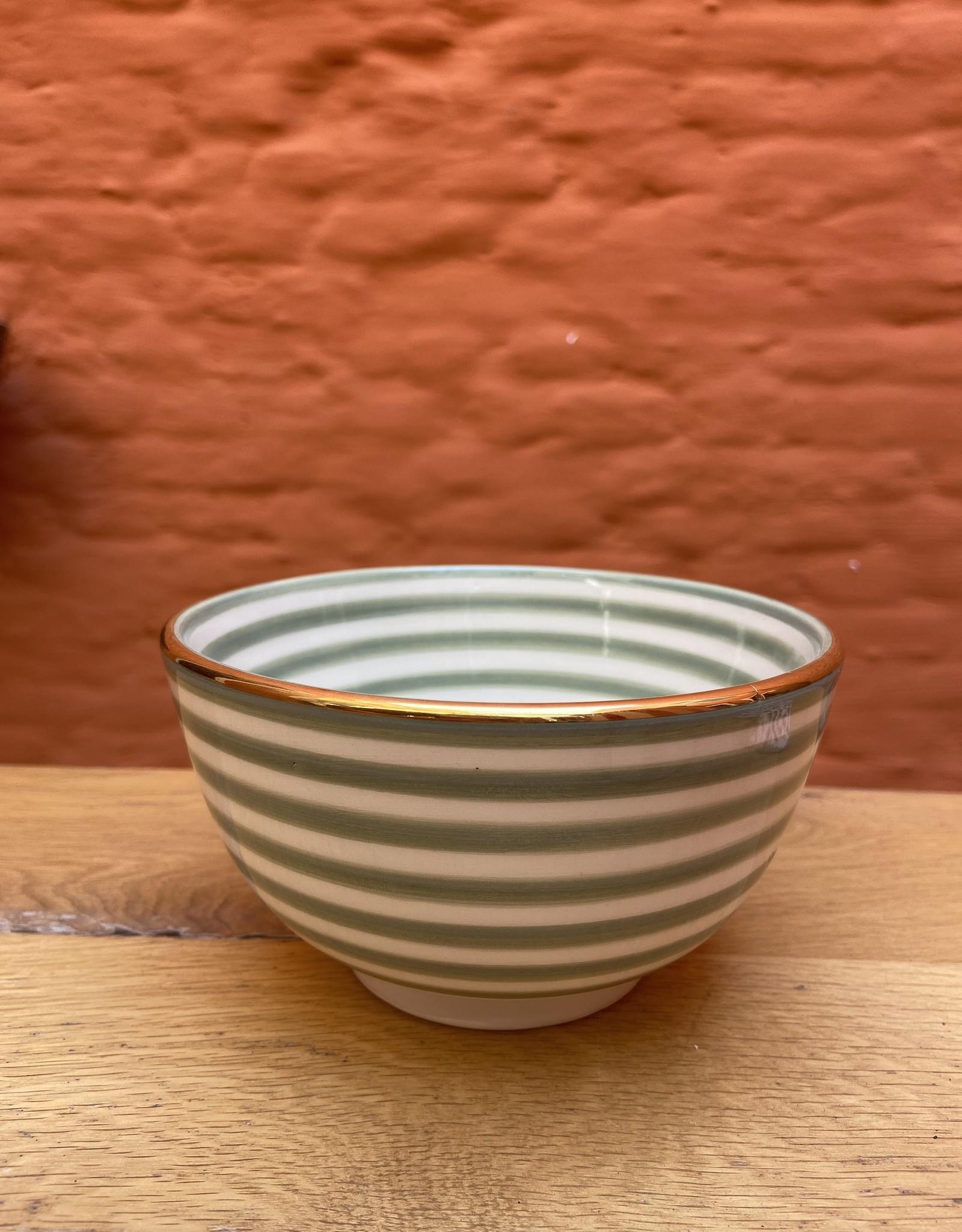 Chabi Chic Chabi Chic Bowl striped celadon