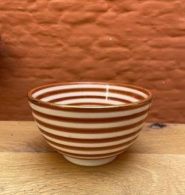 Chabi Chic Chabi chic Bowl striped marsala