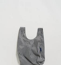 Baggu Reusable bag baby stripe black white