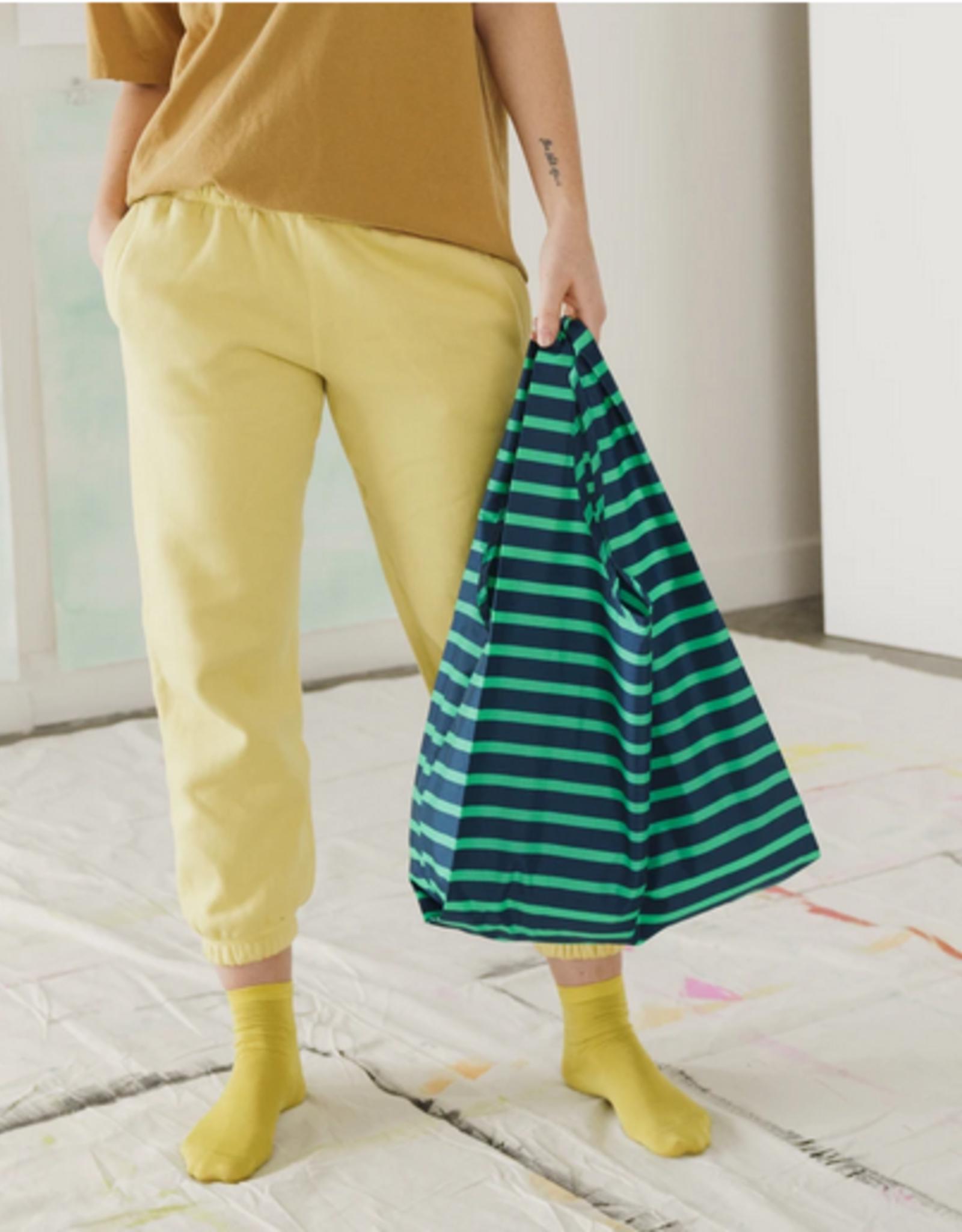 Baggu Reusable bag stripe aloe