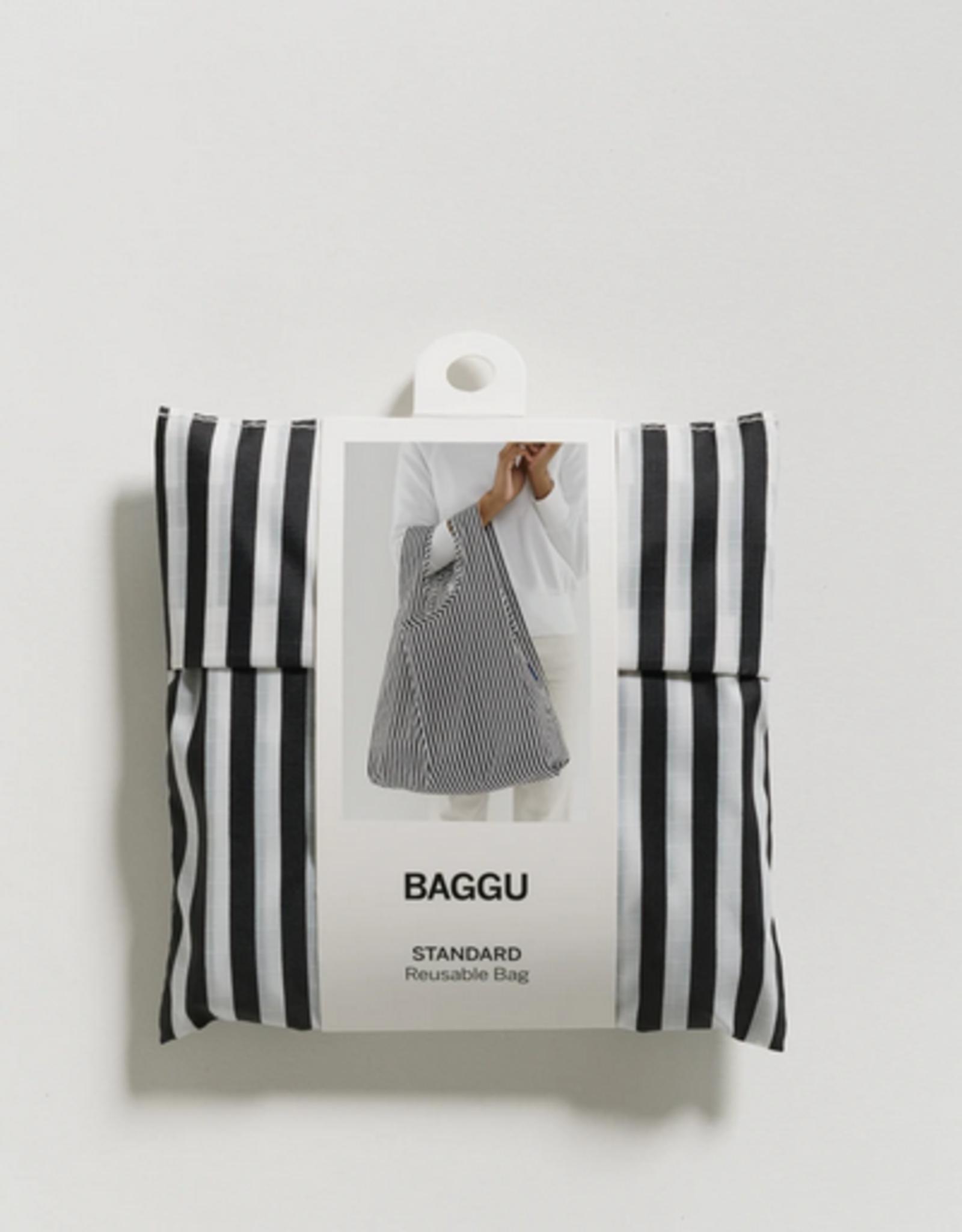 Baggu Reusable bag stripe black white
