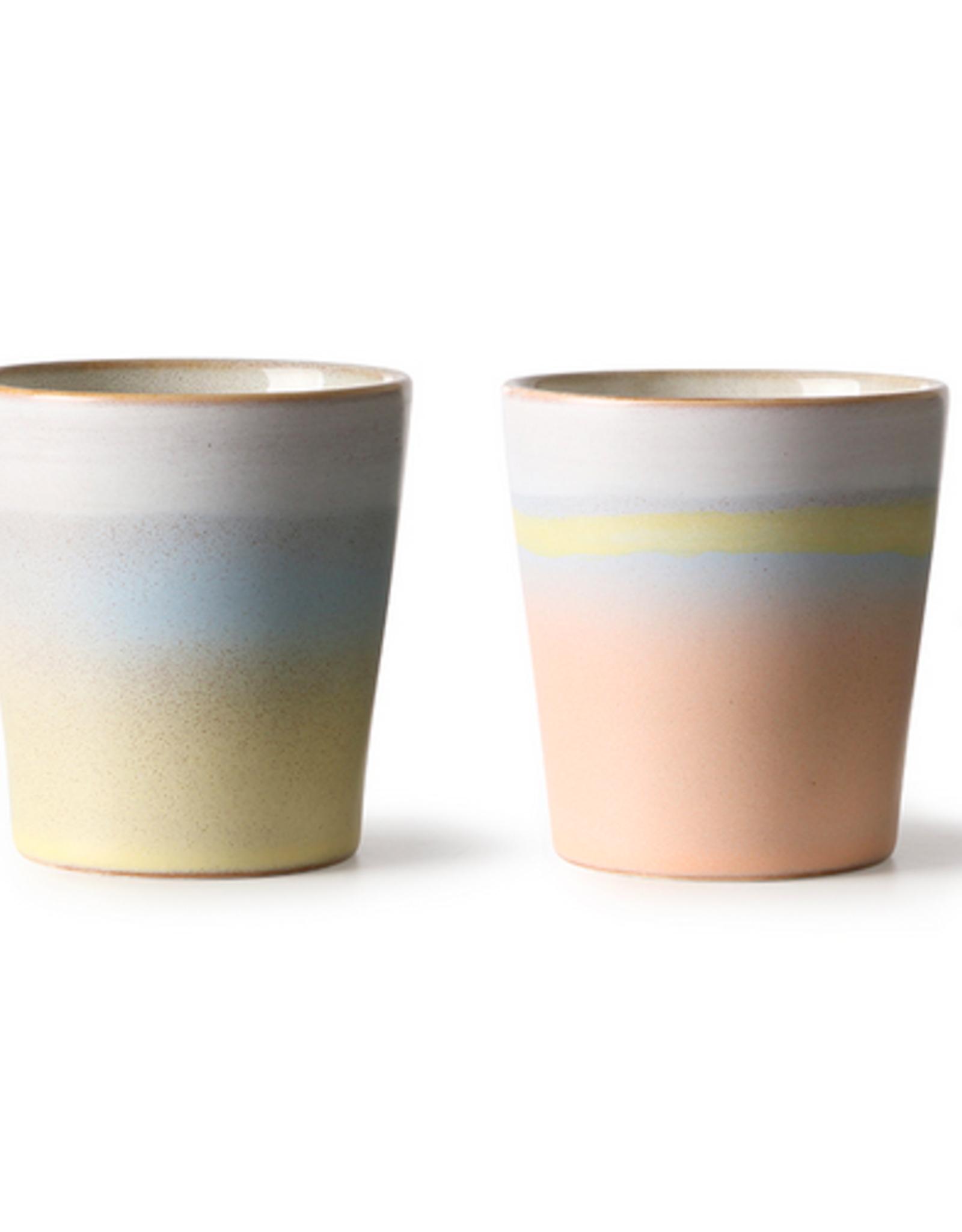 HK Living Suites 70's mugs (2)