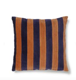 HK Living Cushion velvet blue / orange