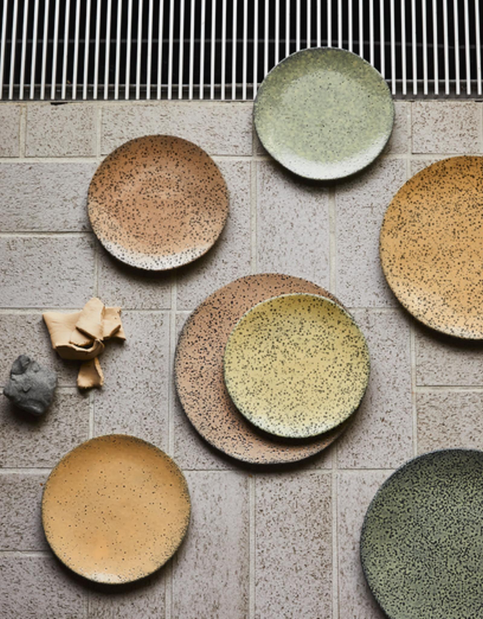 HK Living Gradient ceramics dinner plate peach