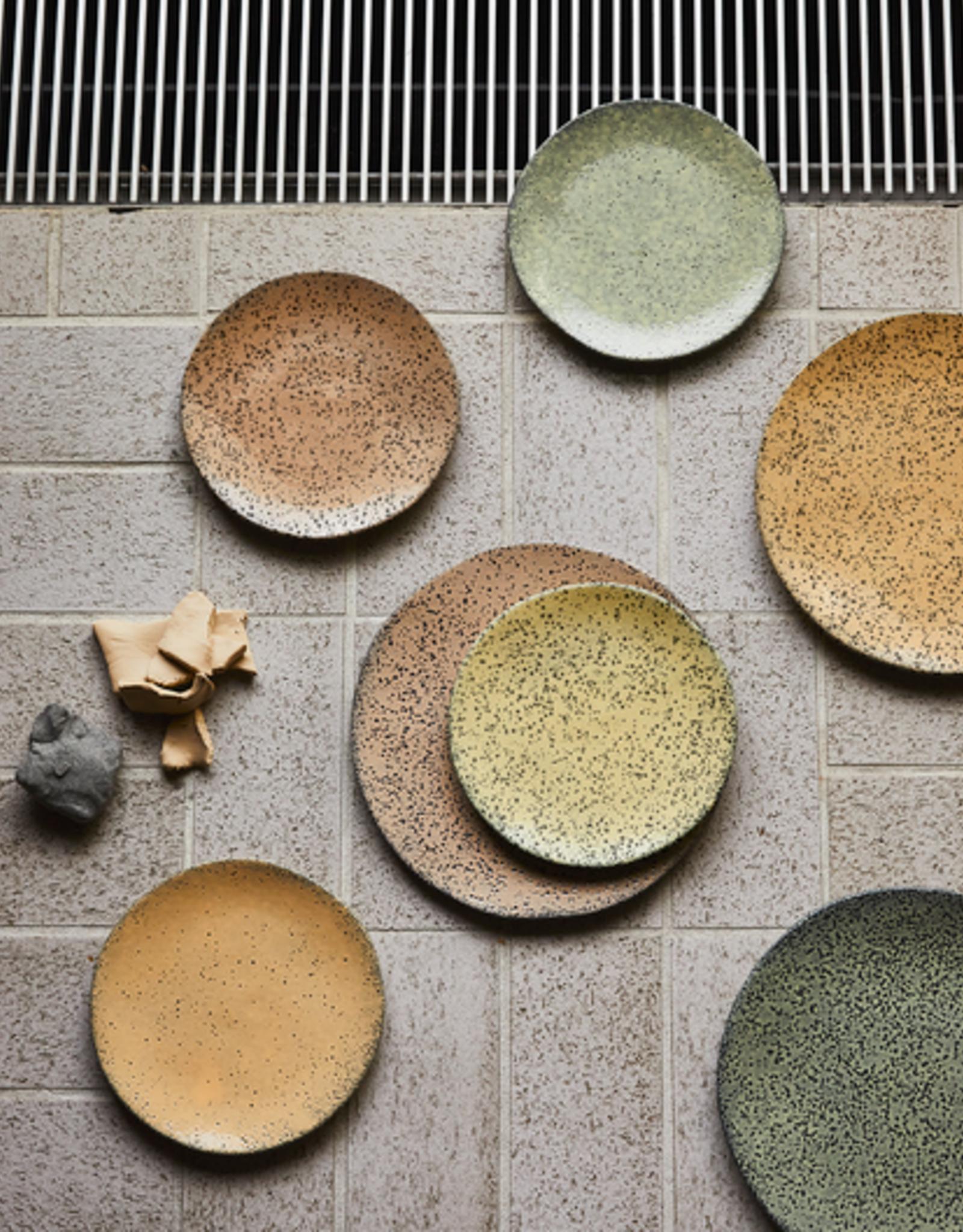 HK Living Gradient ceramics dinner plate yellow