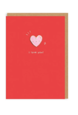 Ohh deer Card heart i love you